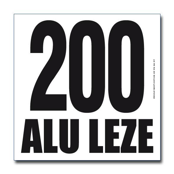 Dossard TYVEK numéro et pub noire 20x20cm ref 1202b