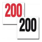 Dossard TYVEK  avec numérotation seule 20x20cm ref 1202a
