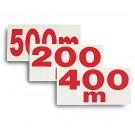 Panneau distance 30X15cm